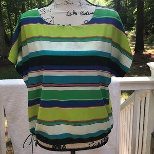 Vince Camuto Colorful stripe Blouse- Size M